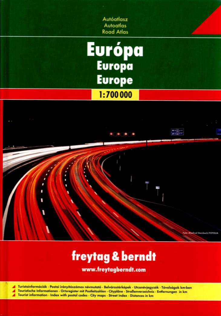 Europe - road atlas (1:700 000)
