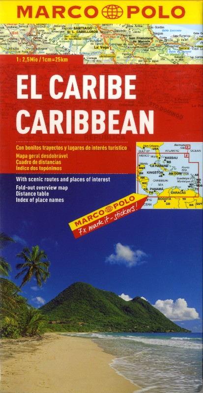 Caribbean Islands (Marco Polo - 1:2.500.000)