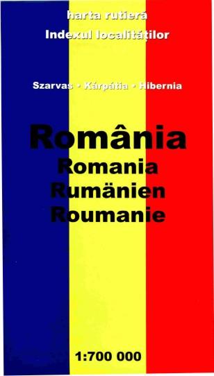 Romania Hartă Rutieră Szarvas Karpatia Hibernia 1 700 000