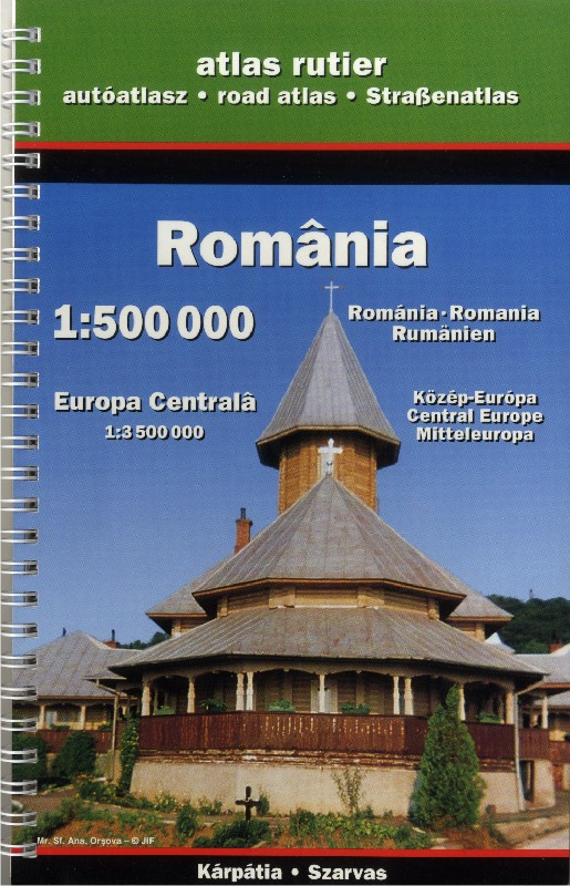 Romania - road atlas (Szarvas - 1:500.000)