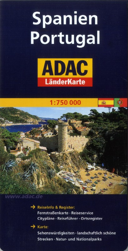 Spain and Portugal (Adac - 1:750.000)
