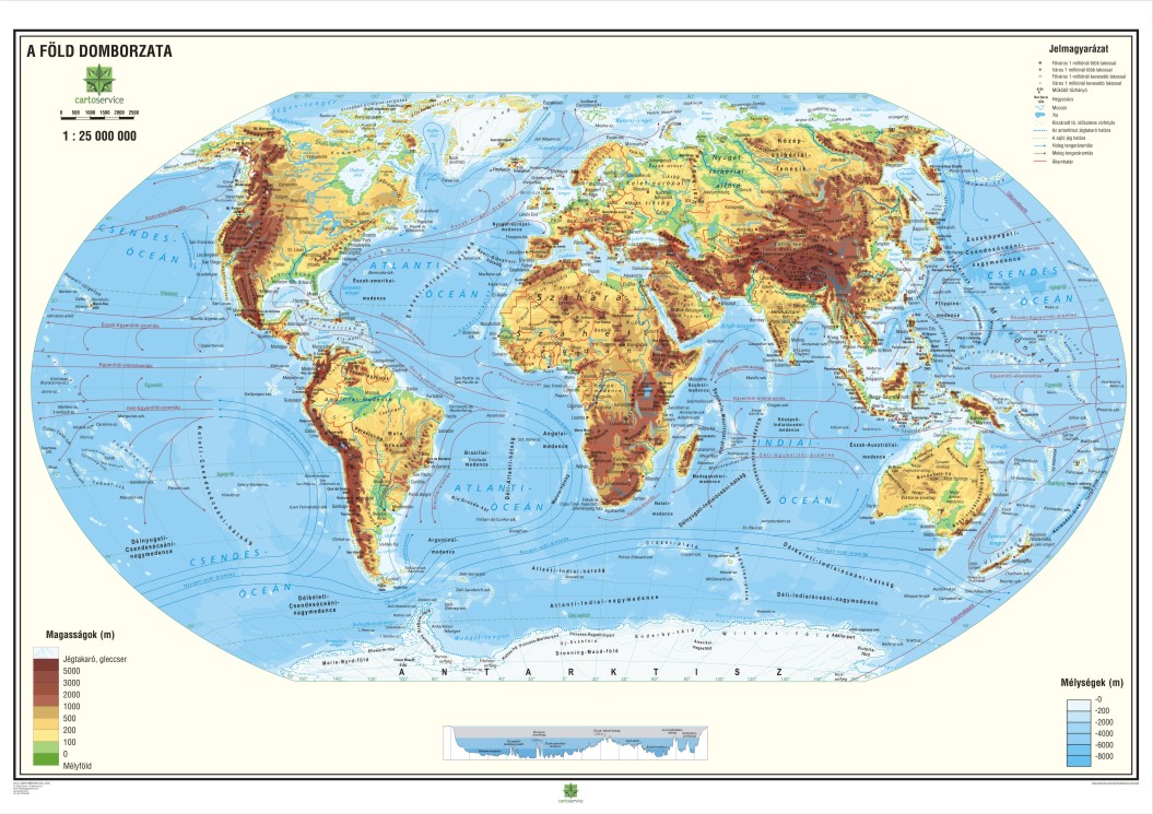 The World - geographic wall map