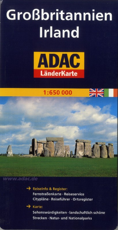 Great Britain and Ireland (Adac - 1:650.000)