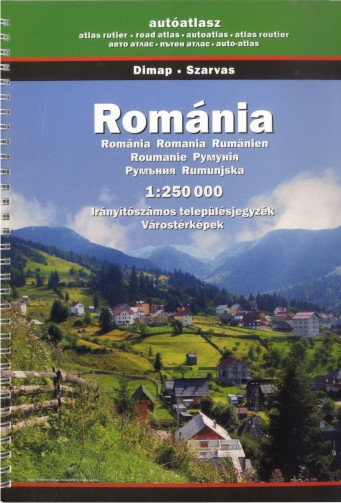 Romania - road atlas (Szarvas - 1:250.000)