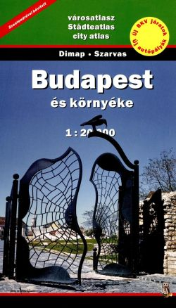 Budapest and metropolitan area, city atlas (Dimap, Szarvas - 1:20.000)
