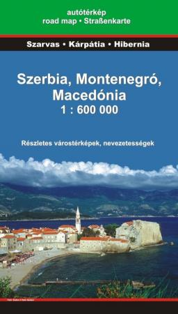 Serbia, Montenegro, Macedonia - road map