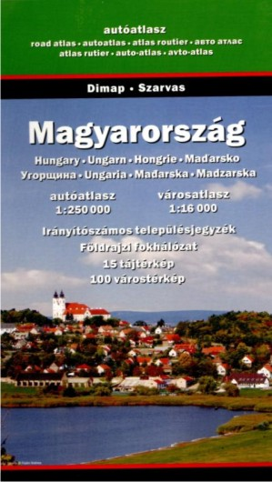 Hungary - road atlas (1:250.000)
